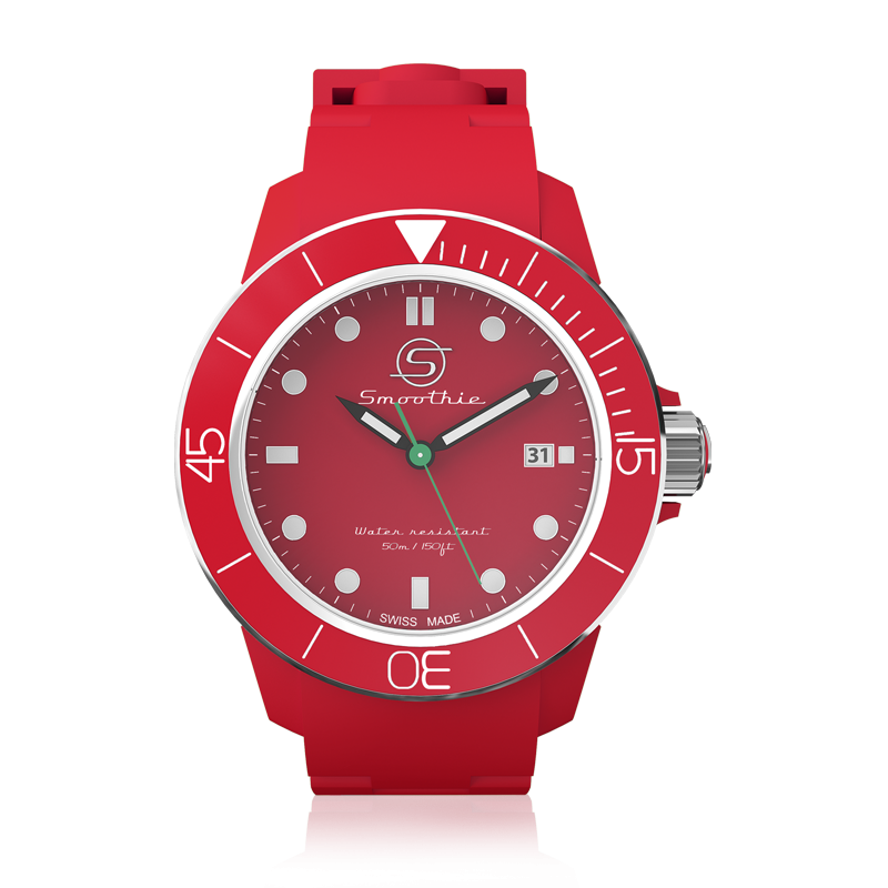 Smoothie Watch - Sport Classic Date - Red Cherry